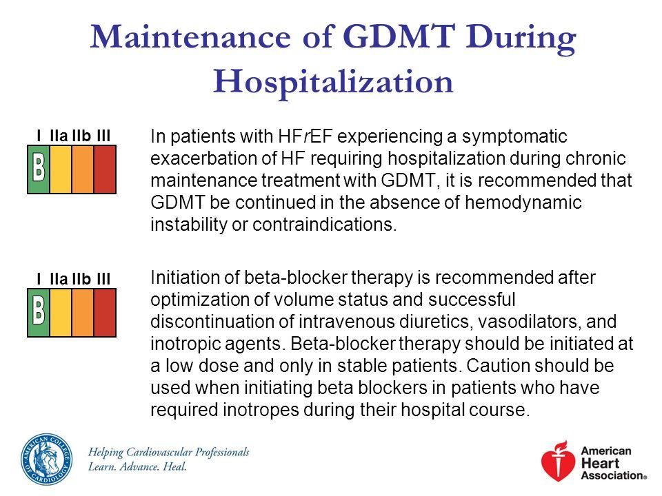 Maintenance of GDMT During Hospitalization