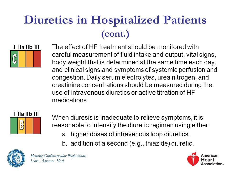 Diuretics in Hospitalized Patients (cont.)