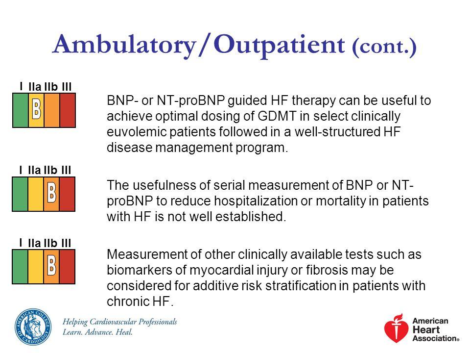 Ambulatory/Outpatient (cont.)