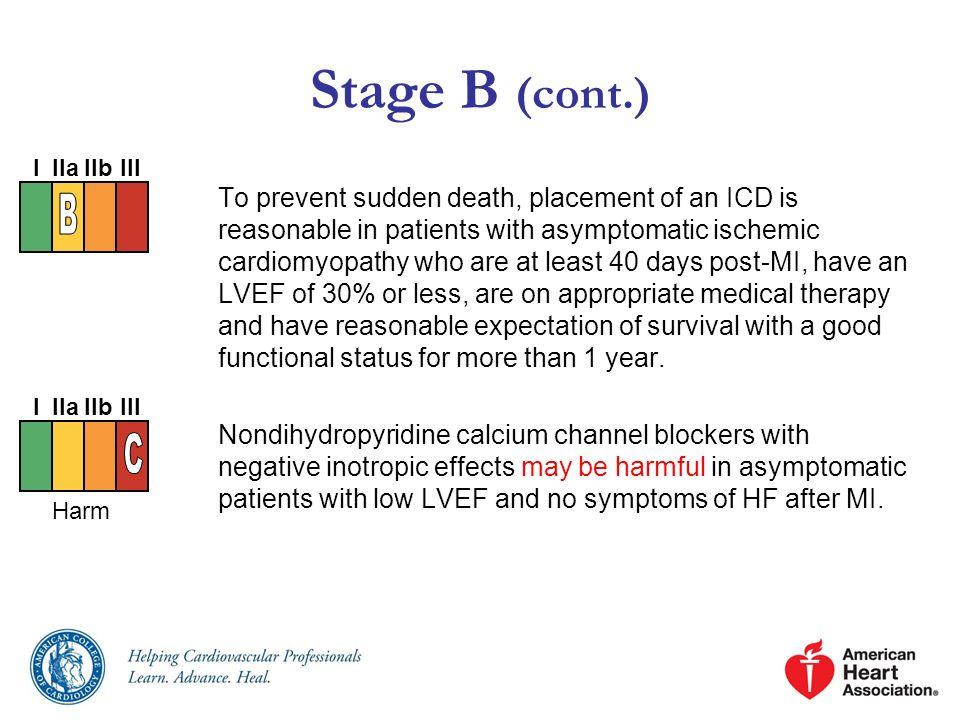 Stage B (cont.) I. IIa. IIb. III. B.