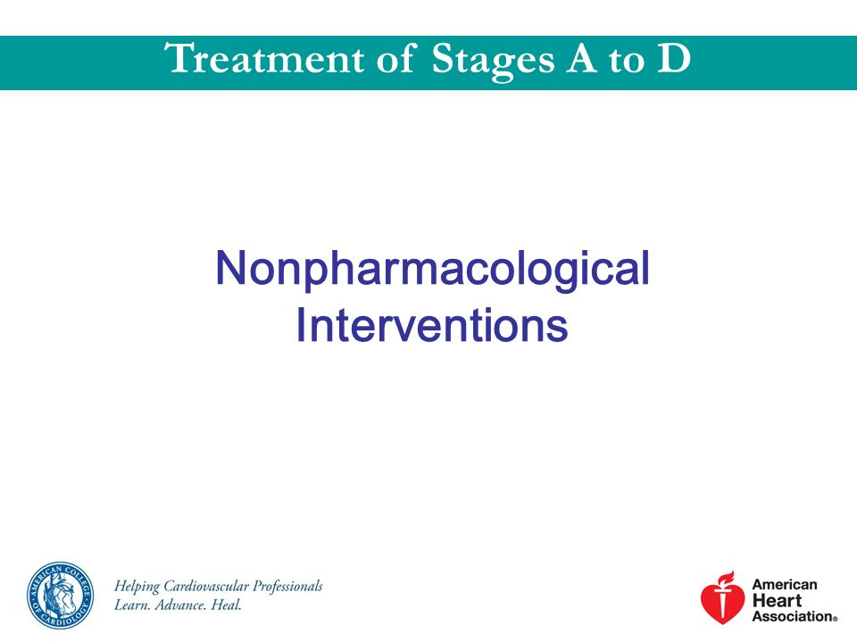 Treatment of Stages A to D Nonpharmacological Interventions