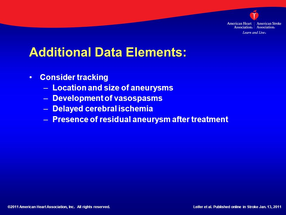 Additional Data Elements: