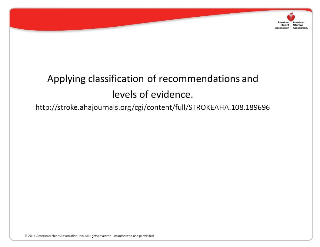 Applying classification of recommendations and