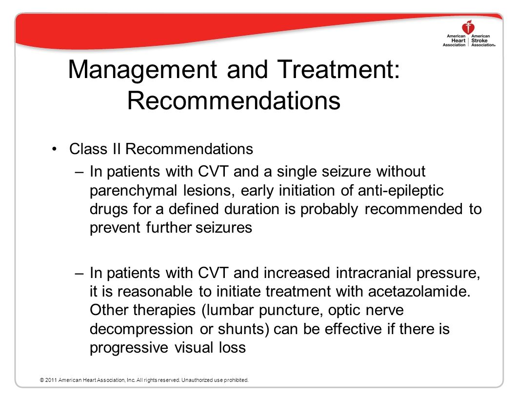 Management and Treatment: Recommendations