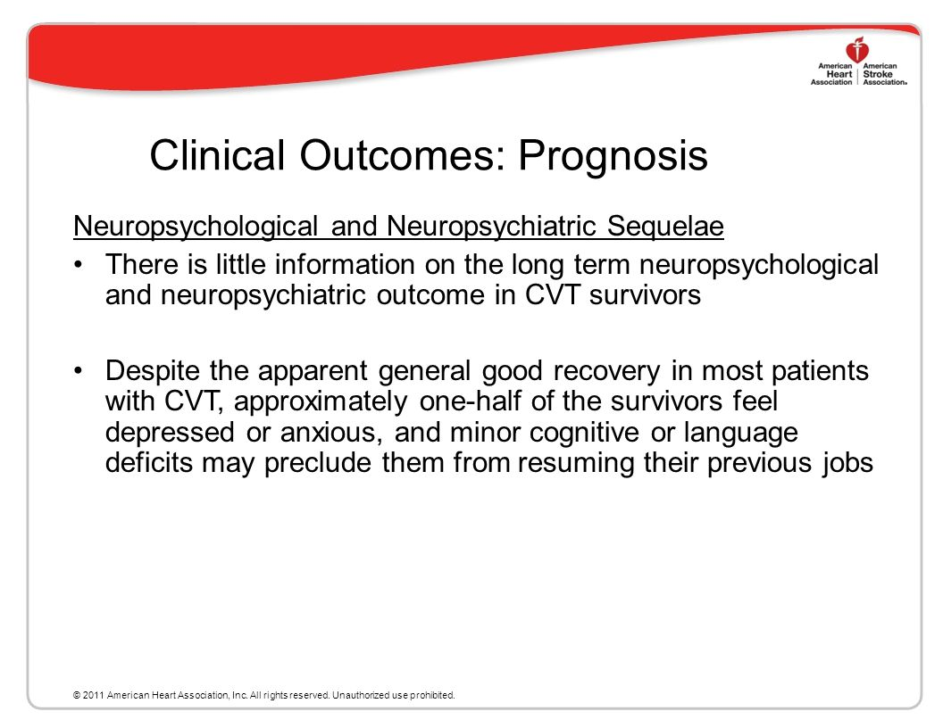 Clinical Outcomes: Prognosis