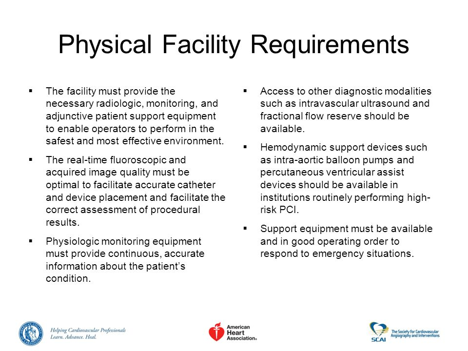 Physical Facility Requirements