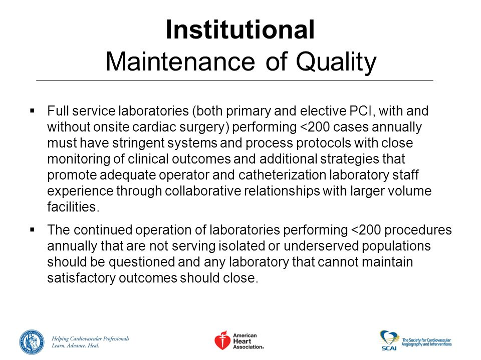 Institutional Maintenance of Quality