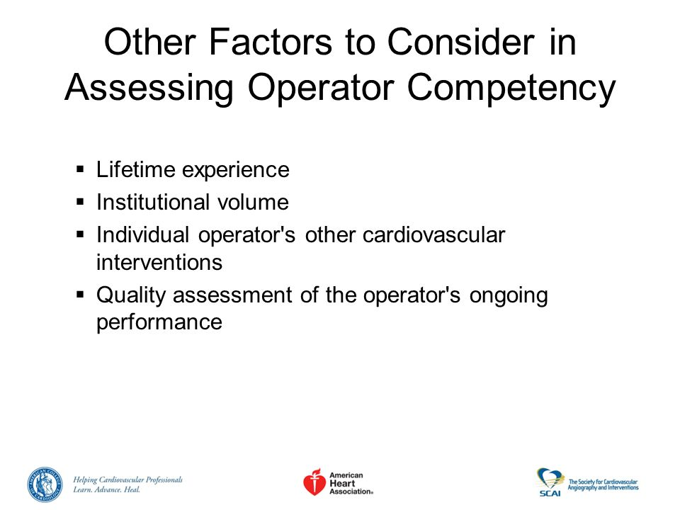 Other Factors to Consider in Assessing Operator Competency