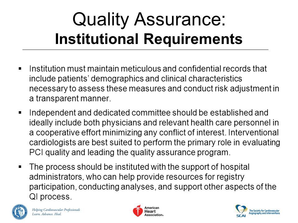 Quality Assurance: Institutional Requirements