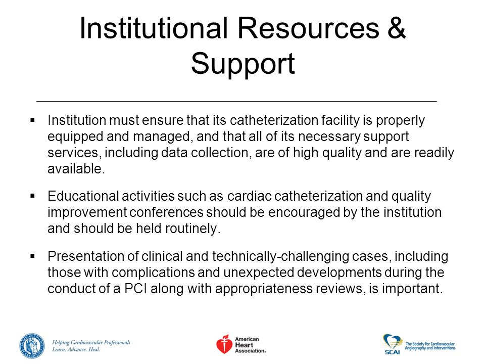 Institutional Resources & Support