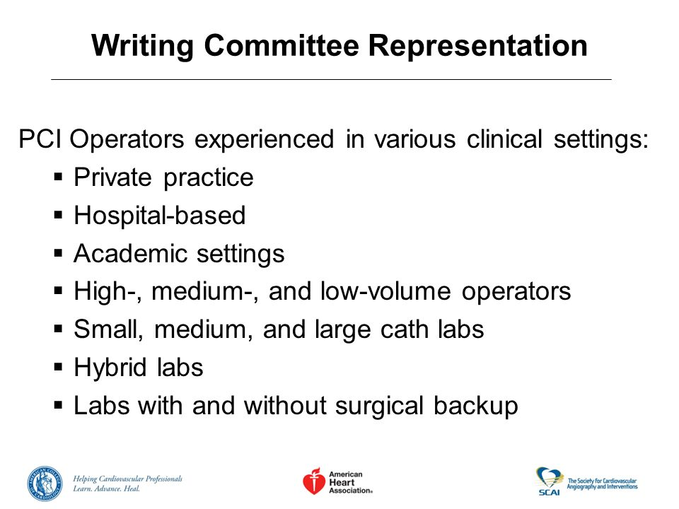 Writing Committee Representation
