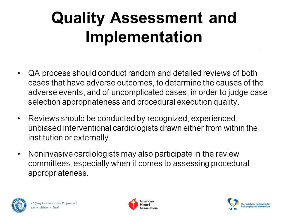 Quality Assessment and Implementation