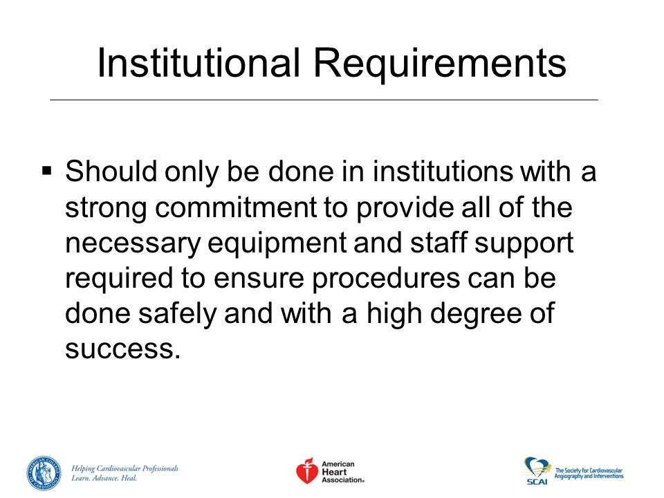 Institutional Requirements