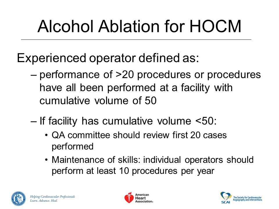 Alcohol Ablation for HOCM