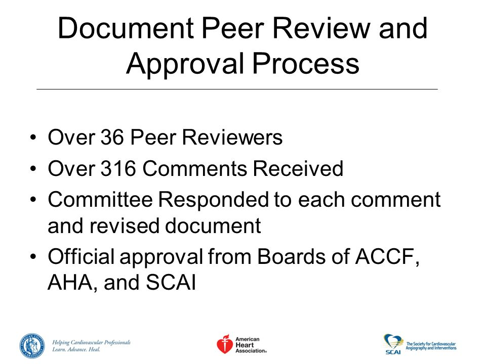 Document Peer Review and Approval Process