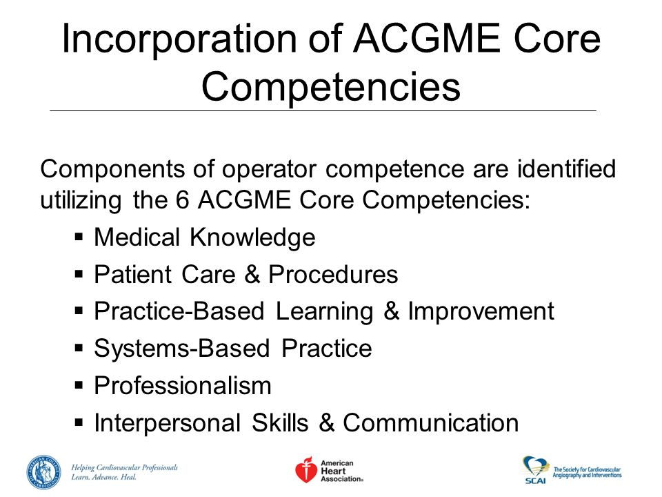 Incorporation of ACGME Core Competencies