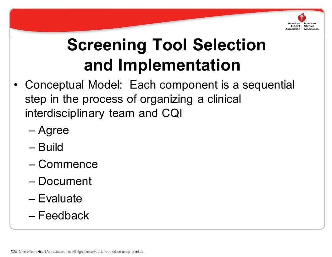 Screening Tool Selection and Implementation