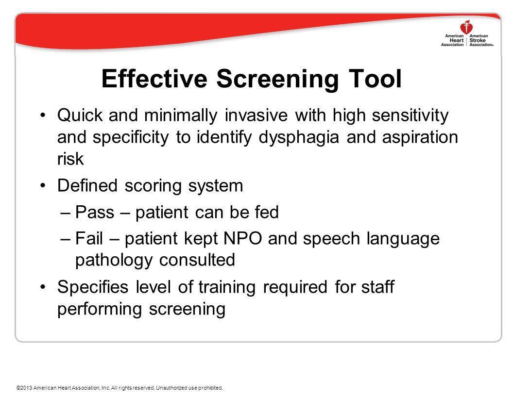 Effective Screening Tool