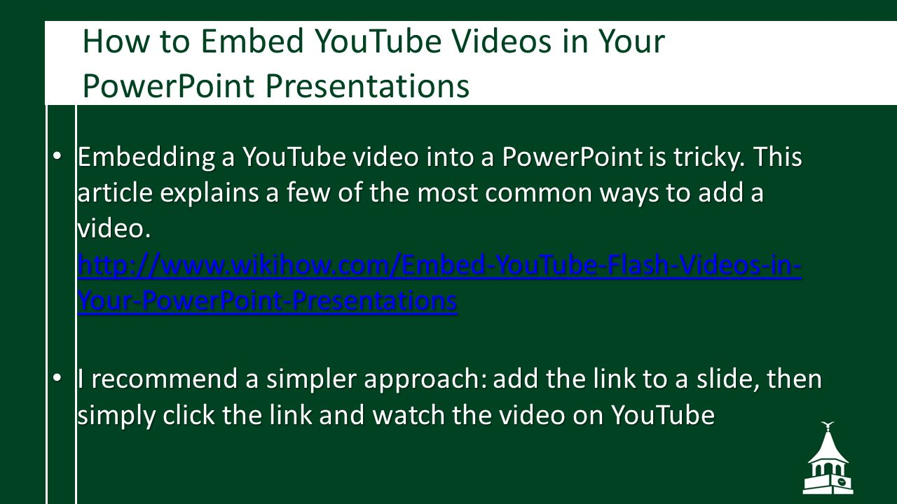 How To Embed Youtube Videos In Your Powerpoint Presentations Powerpoint  Design Creating A Truly Welldesigned Powerpoint