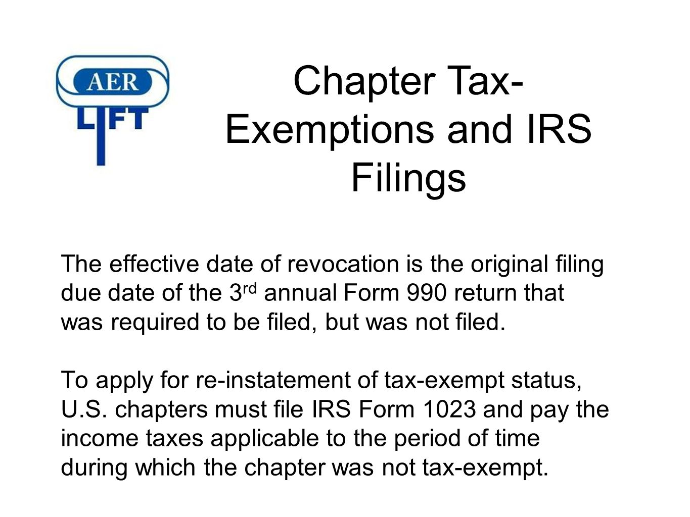 Irs form 990 due date gallery standard form examples the roles and responsibilities of secretary and treasurer ppt chapter tax exemptions and irs filings falaconquin falaconquin