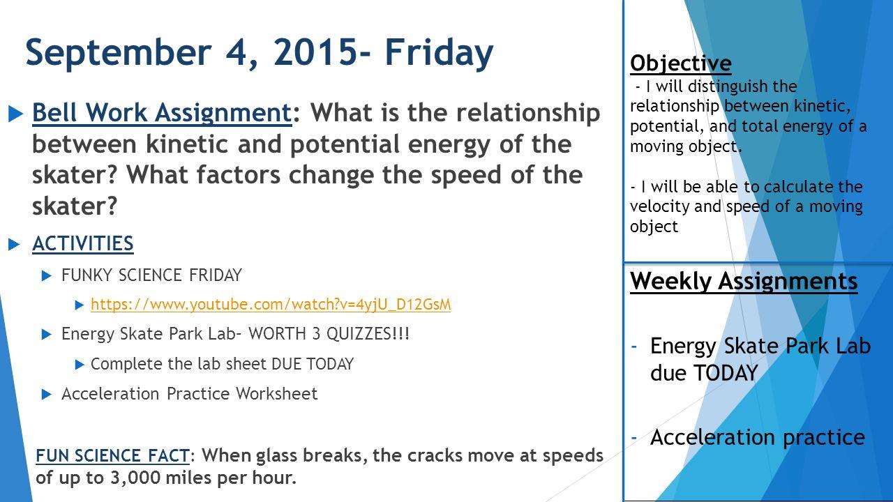 DEER Valley Middle School Morgan Butsch ppt video online download – Energy Skate Park Worksheet