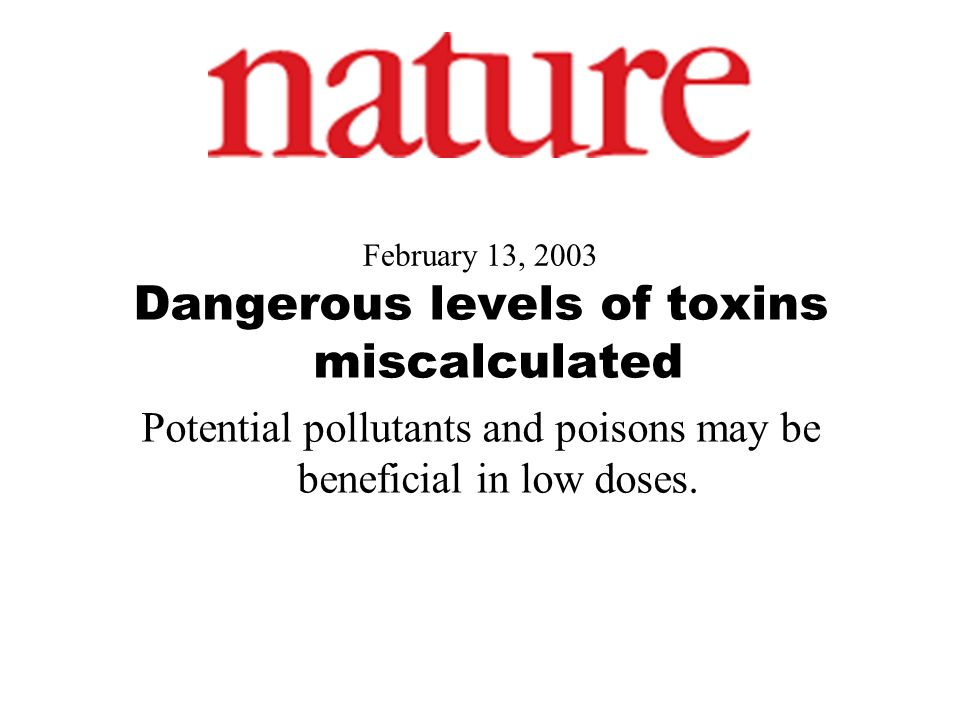 Dangerous levels of toxins miscalculated