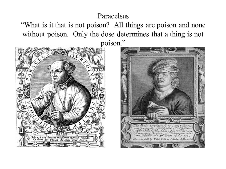 Paracelsus What is it that is not poison