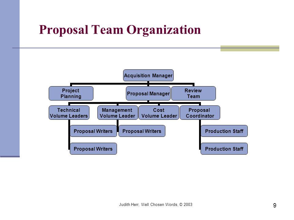 Proposal Team Organization