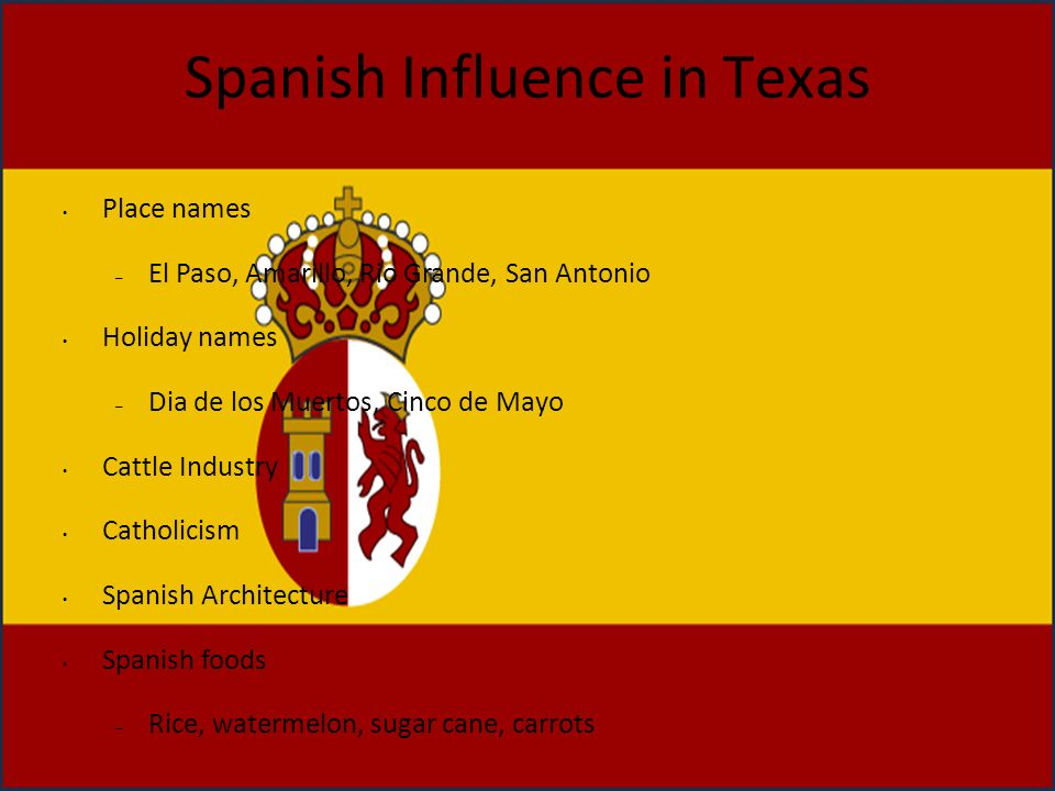 Spanish Influence in Texas