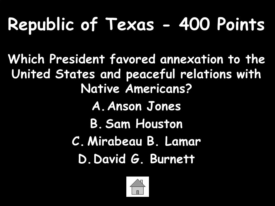 Republic of Texas - 400 Points