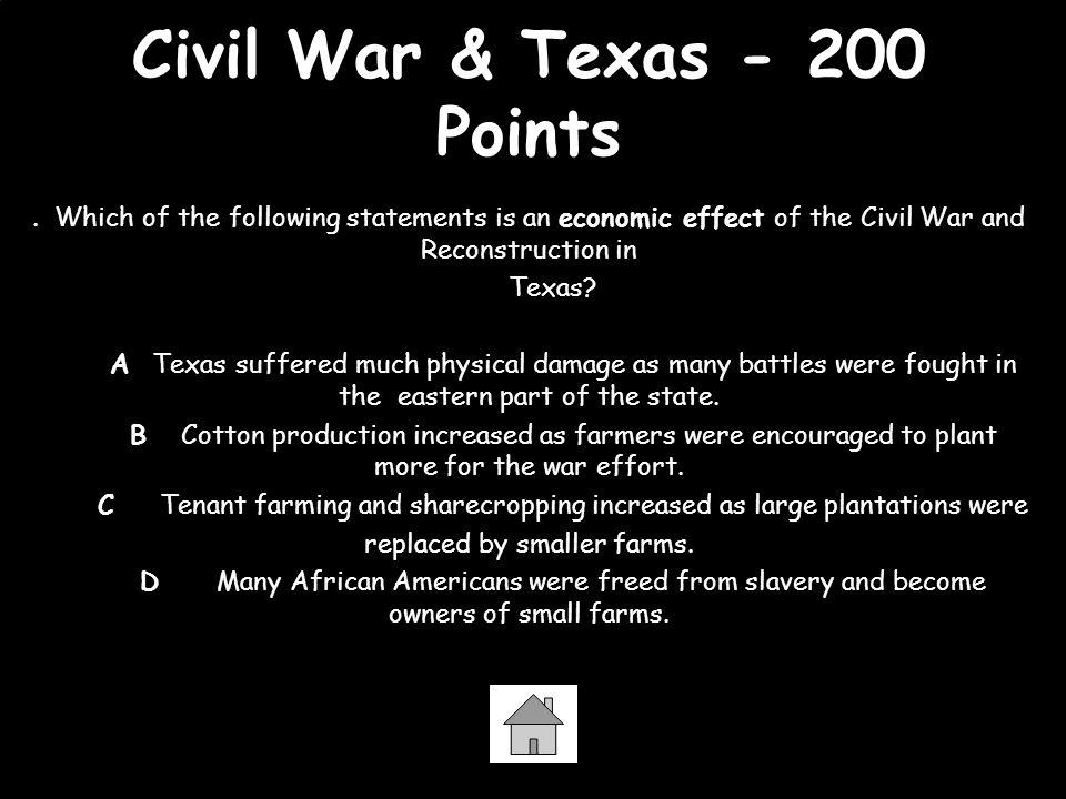 Civil War & Texas - 200 Points