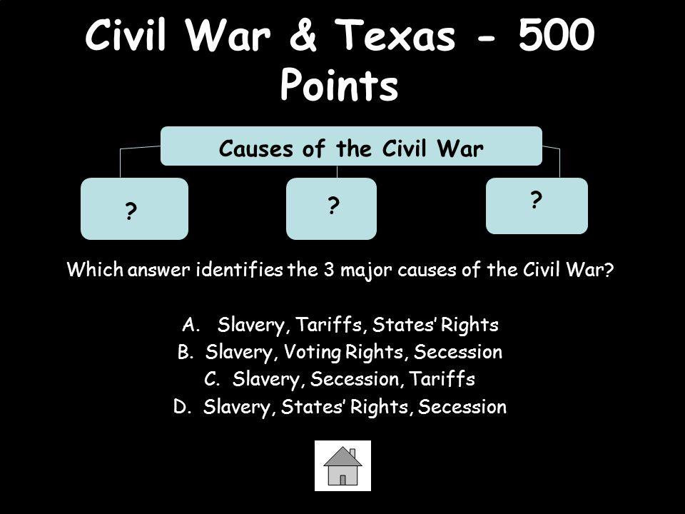 Civil War & Texas - 500 Points