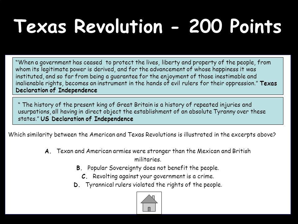 Texas Revolution - 200 Points