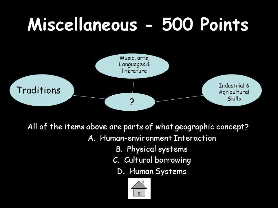 Miscellaneous - 500 Points