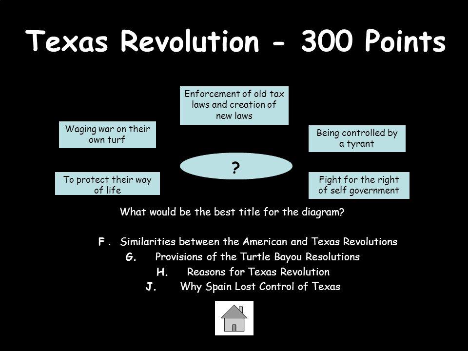 Texas Revolution - 300 Points