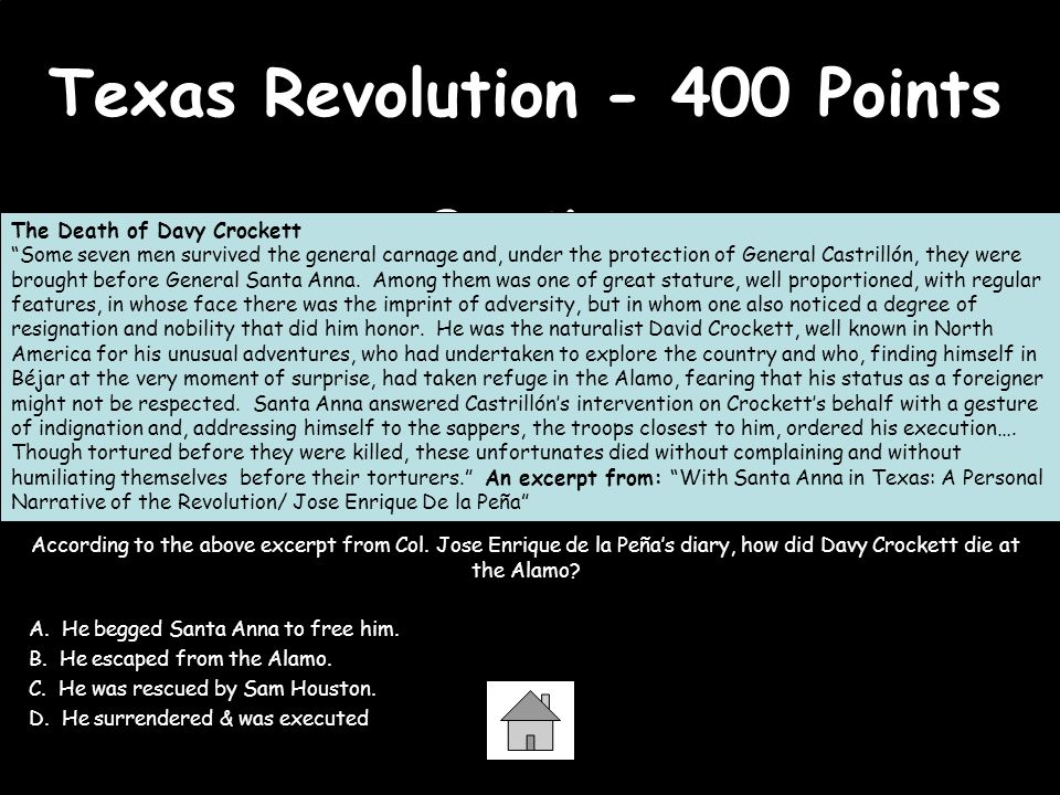 Texas Revolution - 400 Points