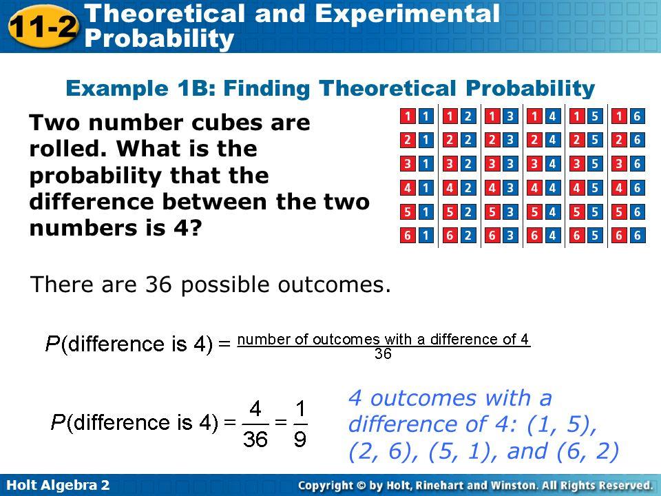 how to find out theoretical probability