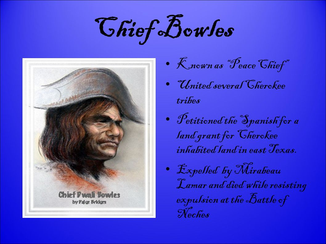 Chief Bowles Known as Peace Chief United several Cherokee tribes