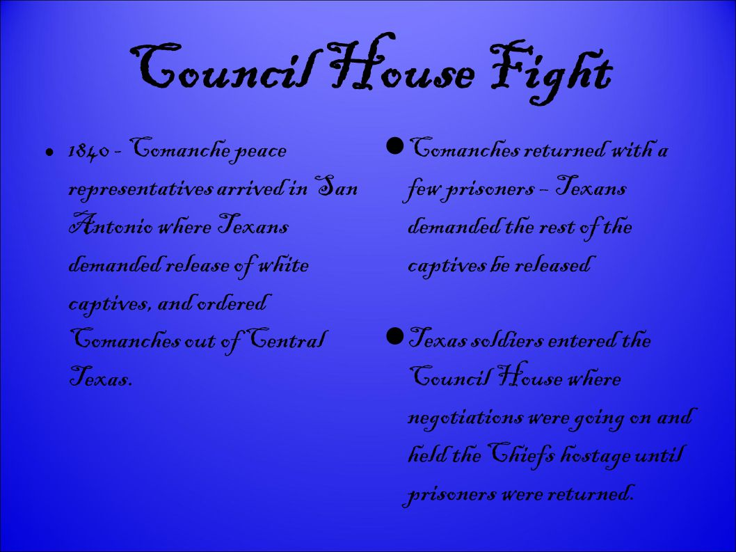 Council House Fight