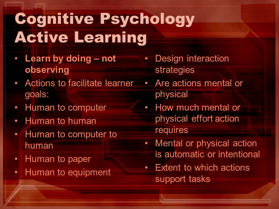 Cognitive Psychology Active Learning