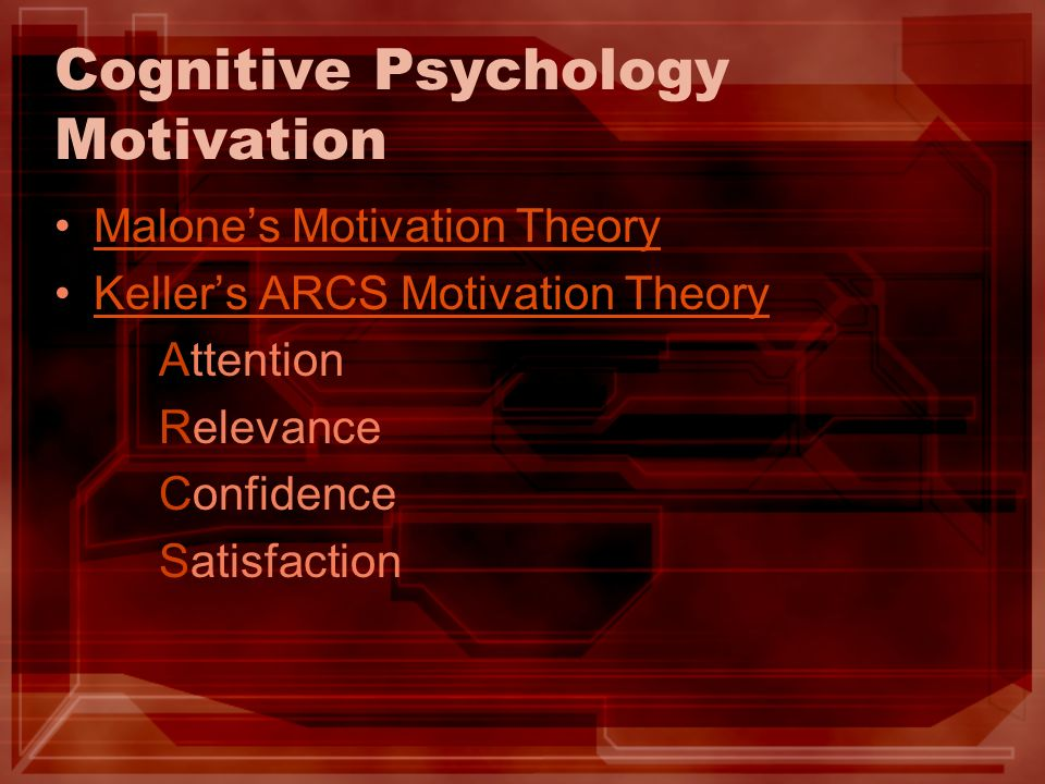 Cognitive Psychology Motivation
