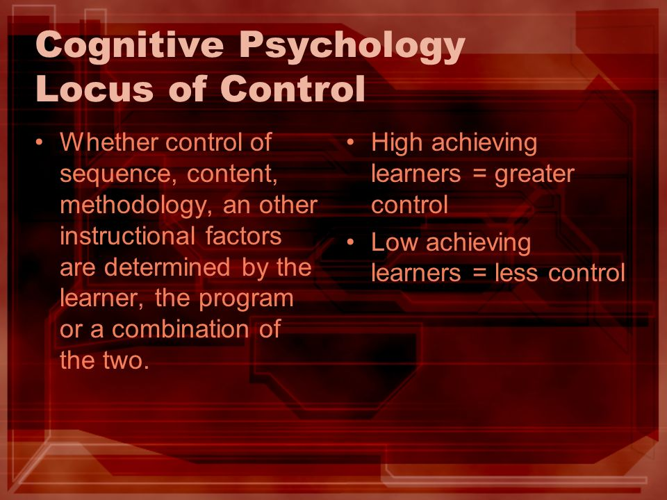 Cognitive Psychology Locus of Control
