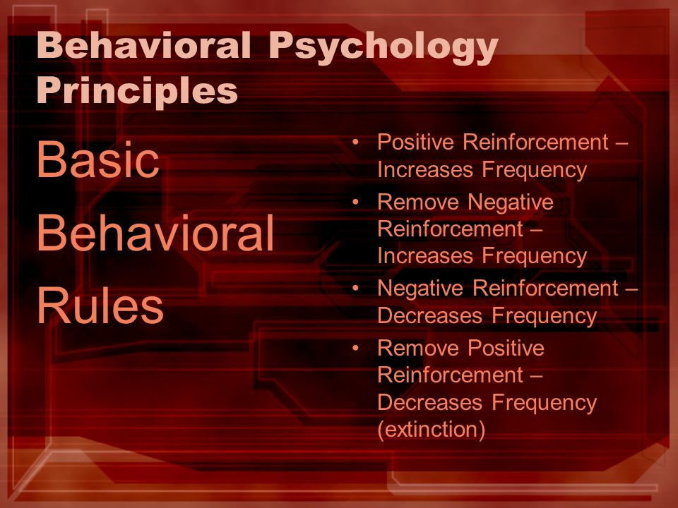 Behavioral Psychology Principles