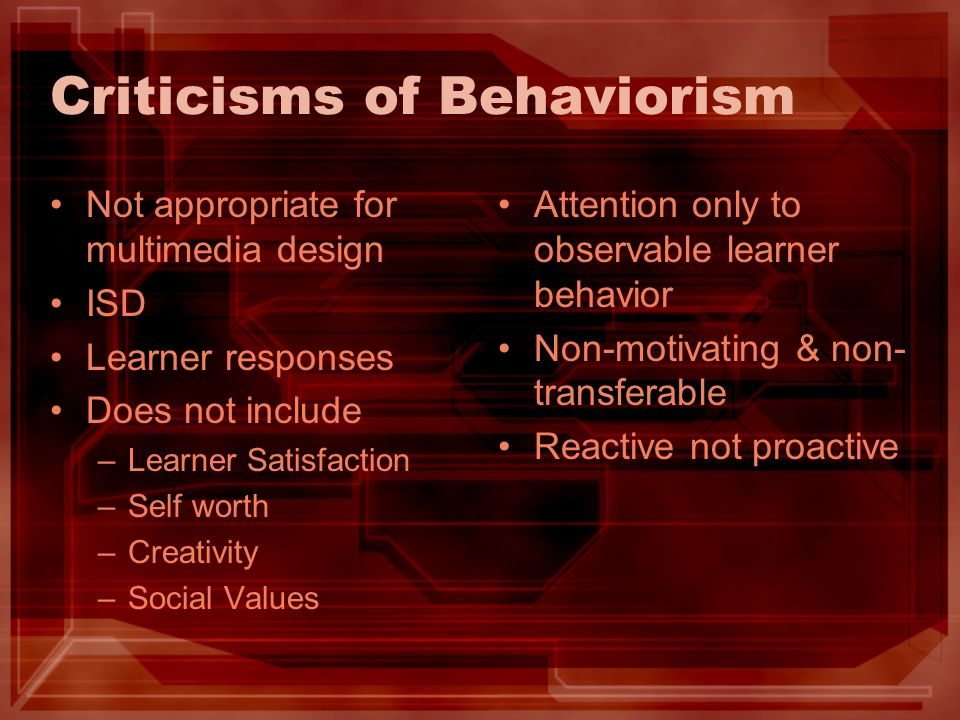 Criticisms of Behaviorism