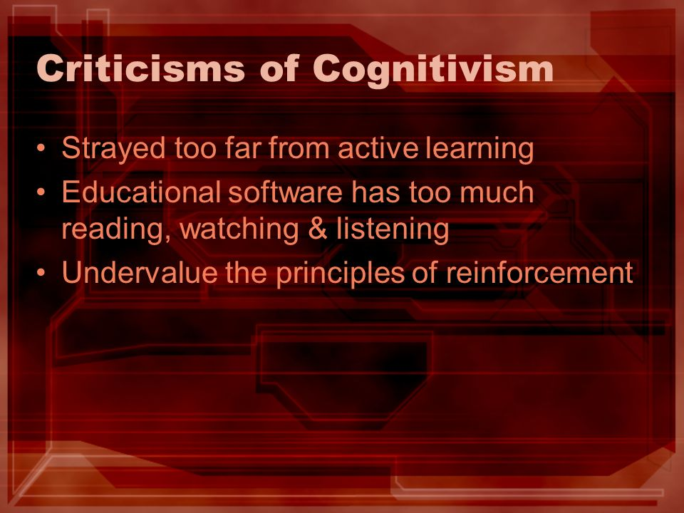 Criticisms of Cognitivism