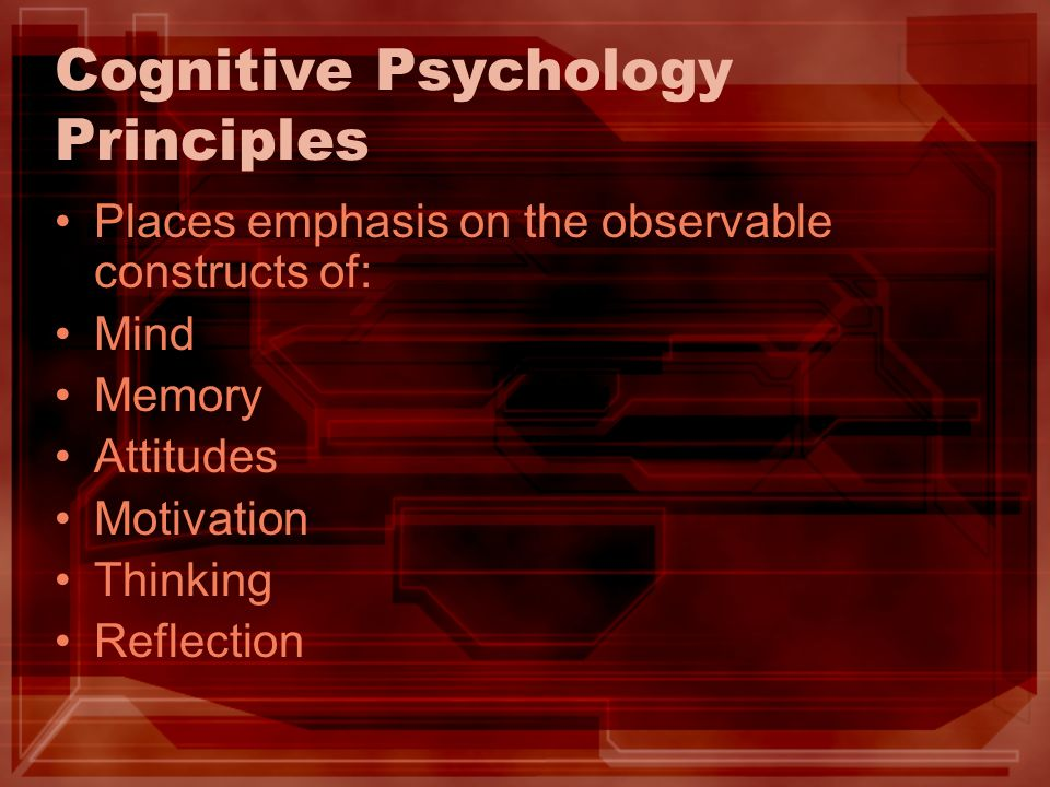 Cognitive Psychology Principles