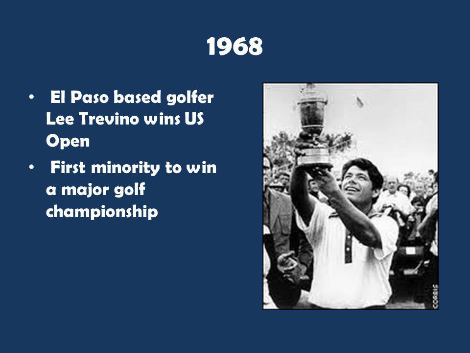 1968 El Paso based golfer Lee Trevino wins US Open