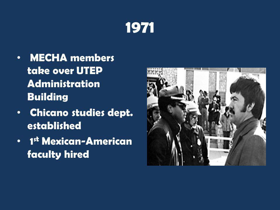 1971 MECHA members take over UTEP Administration Building