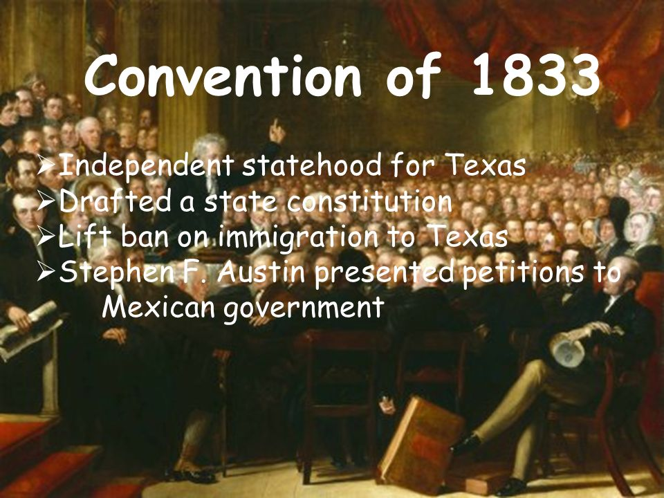 Convention of 1833 Independent statehood for Texas