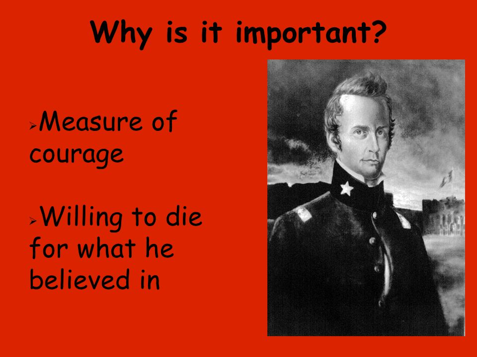 Why is it important Measure of courage